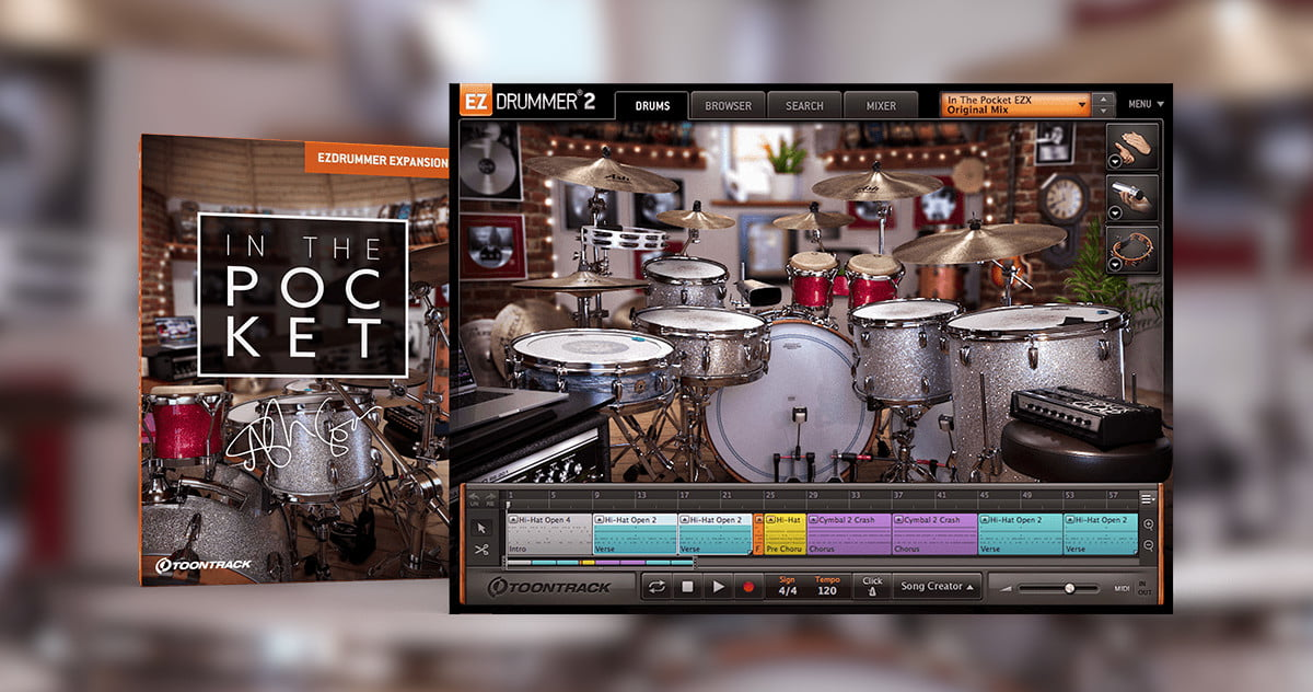 In The Pocket EZX: Ash Soan expansion pack for EZdrummer 2 and Superior Drummer 3