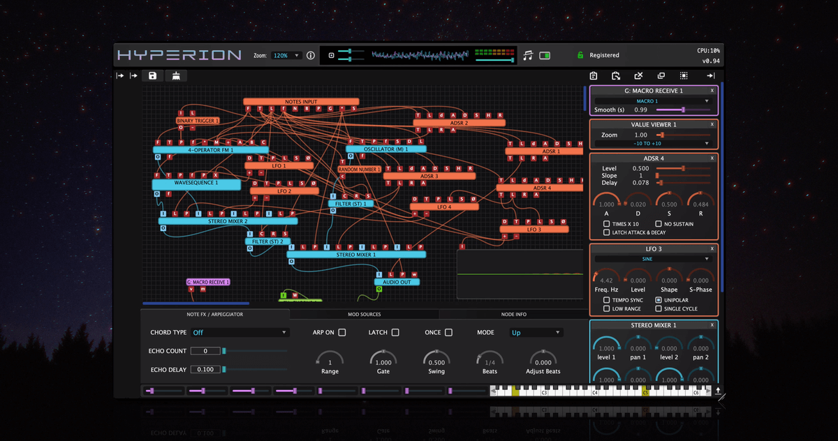 Tracktion launches Hyperion modular synthesizer plugin