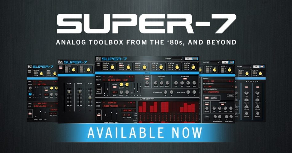 UVI Super-7: 80s synth and drum machine sounds inspired by Roland MKS-7
