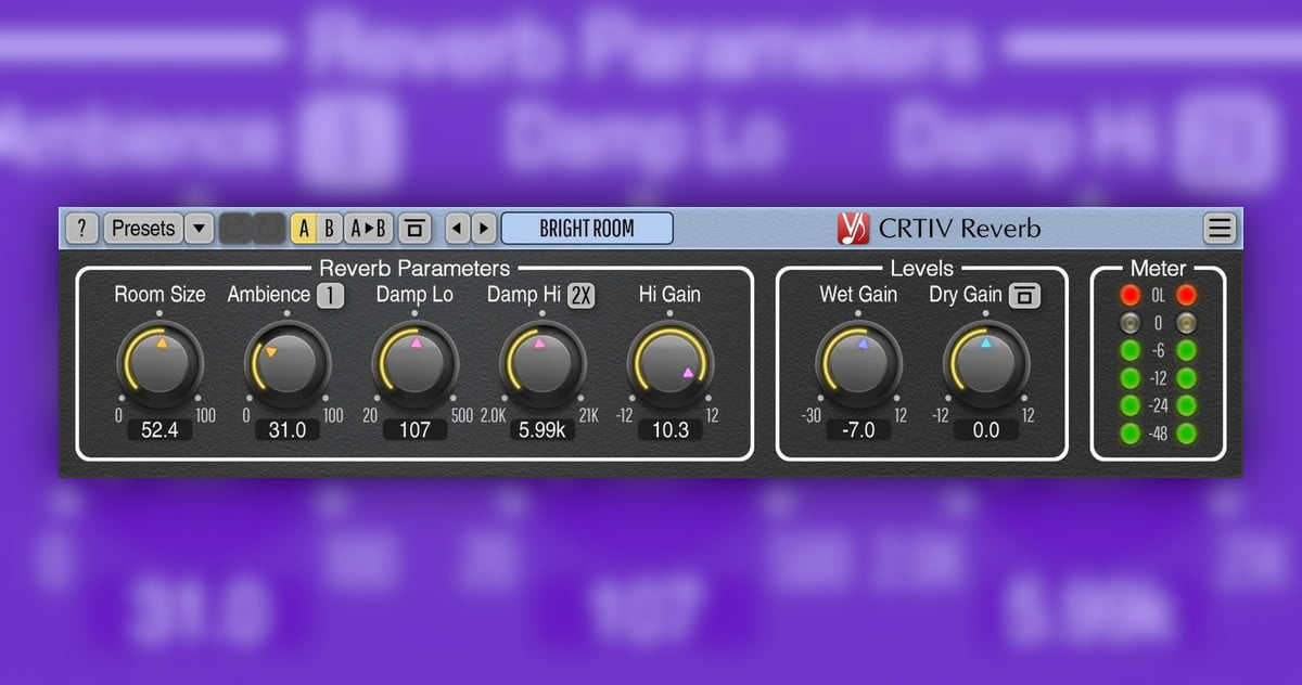 Voxengo CRTIV Reverb gets Apple Silicon support in v2.4 update