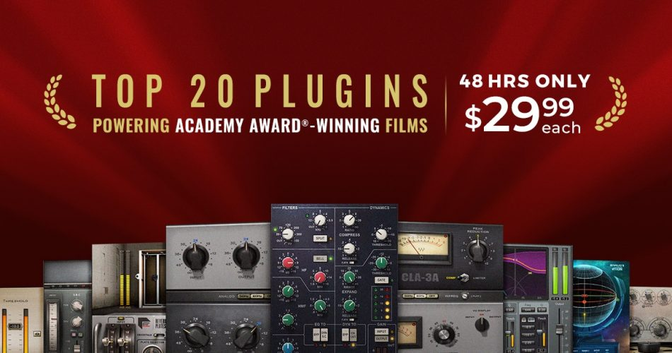 Waves Top 20 Academy Award Winning plugins