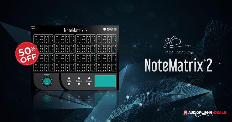 NoteMatrix 2 MIDI mapper for Kontakt & Kontakt Player on sale for $14.99 USD