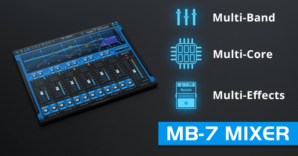 Blue Cat's MB-7 Mixer multiband multi-effect plugin updated to v3.4
