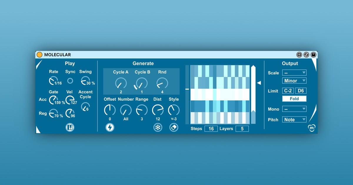 Molecular: Mutative arpeggiator Max for Live device for Ableton