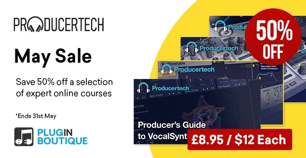 Save 50% on Producer's Guide to VocalSynth 2, Spire, Hybrid 3 and more