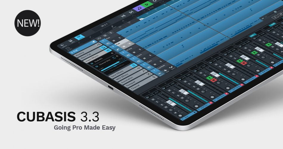 Steinberg updates Cubasis mobile DAW for iOS and Android to v3.3