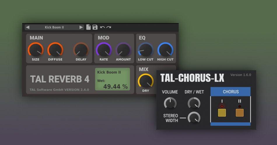 TAL chorus and reverb