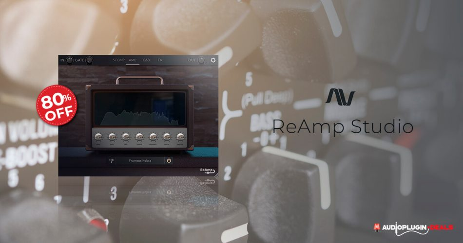 ReAmp Studio guitar suite by Audio Assault on sale at 80% OFF