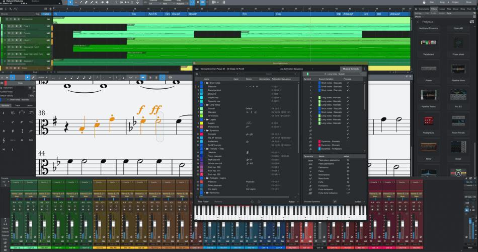 PreSonus Studio One 5.3 Dyamics Markings and Sound Variations