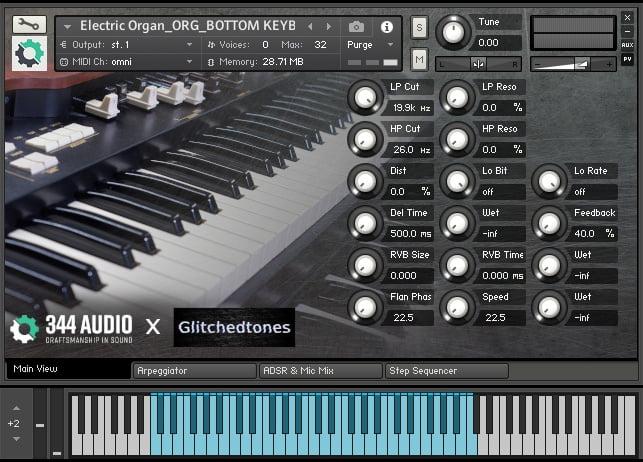 344 Audio Glitchedtones Electric Organ