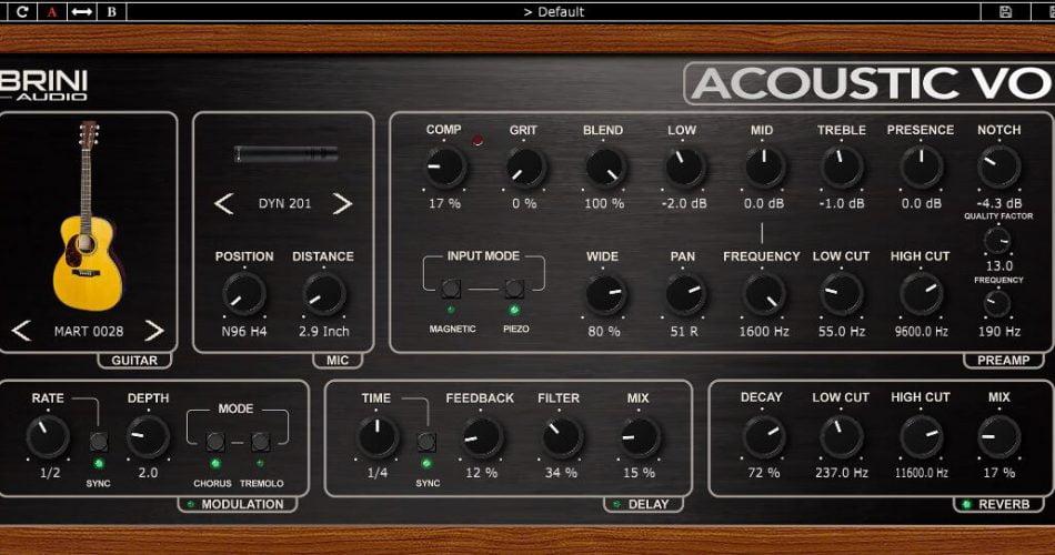 Nembrini Audio Acoustic Voice GUI