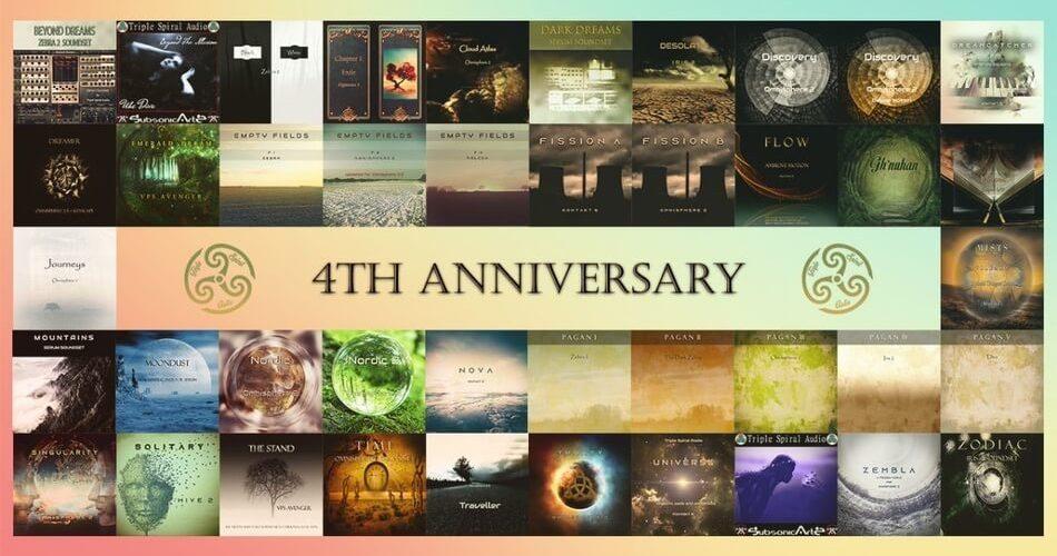 Triple Spiral Audio 4 year anniversary