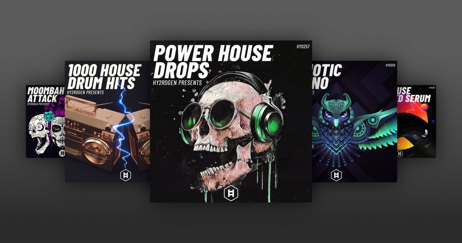 Hy2rogen Power House Drops 1000 House Drum Hits Hypnotic Techno Tech House Reum Moombahton Attack