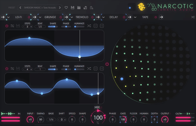 Lunatic Audio Narcotic GUI