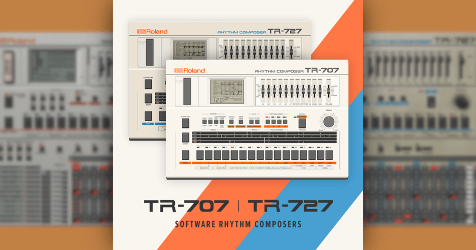 Roland Cloud TR 707 and TR 727