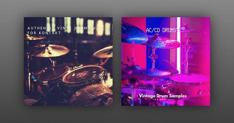 Vintage Drum Samples Authentic Vinyl Drums 6 ACCD Drums