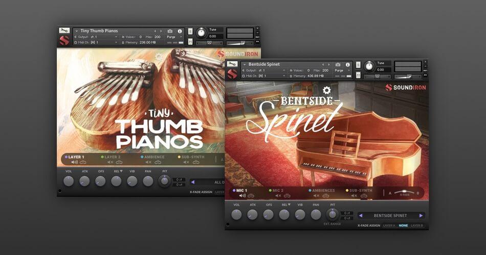 Soundiron Bentside Spinet Tiny Thumb Pianos
